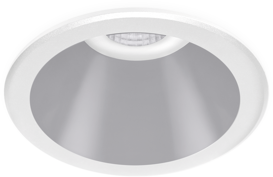 Recessed ceiling luminaire SHOT LIGHT with integrated LED matrix